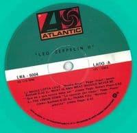 LED ZEPPELIN Led Zeppelin II Vinyl Record LP Mexican Atlantic Aquamarine Vinyl